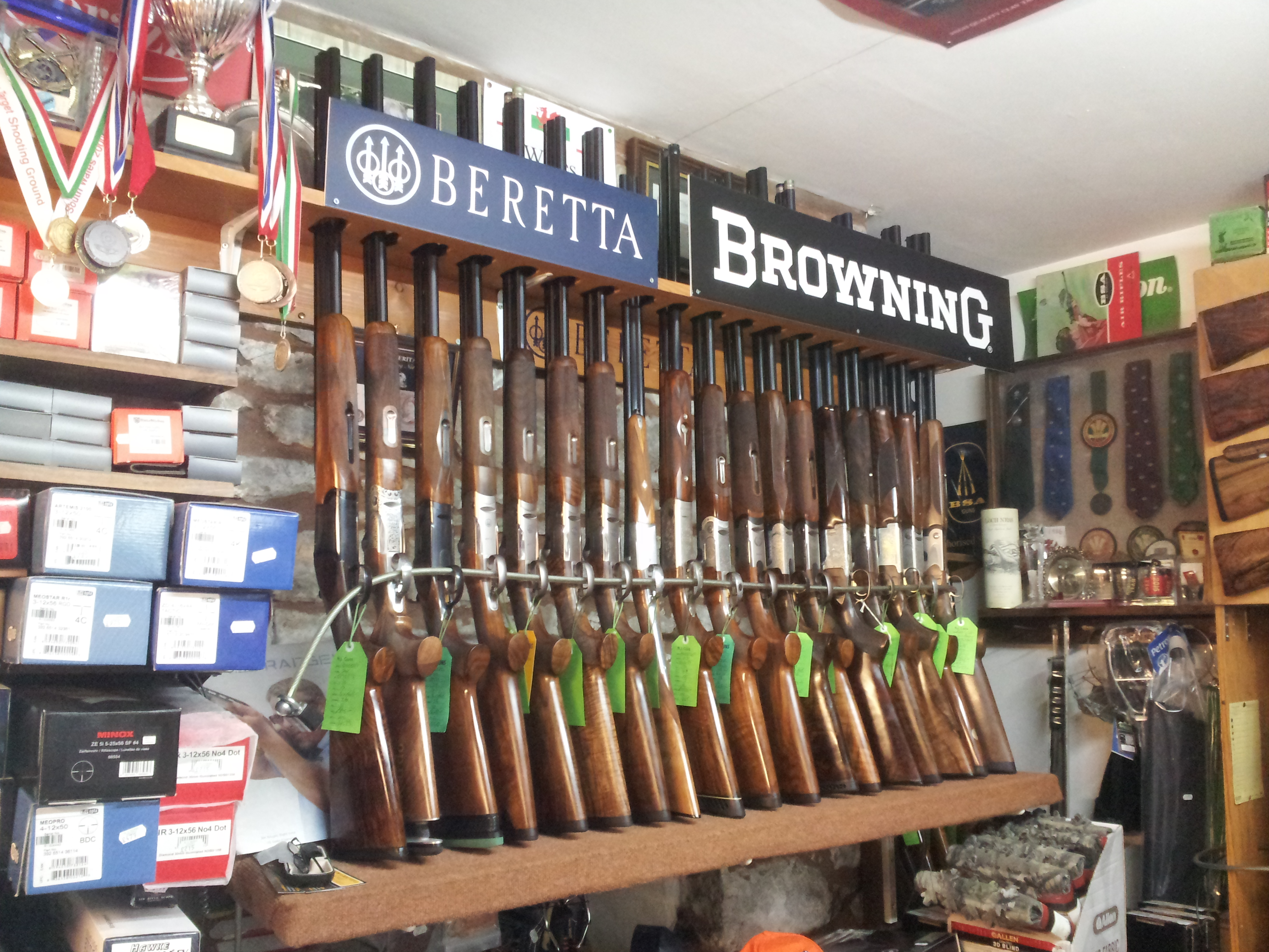 Range of Shotguns at N J Guns Builth Wells